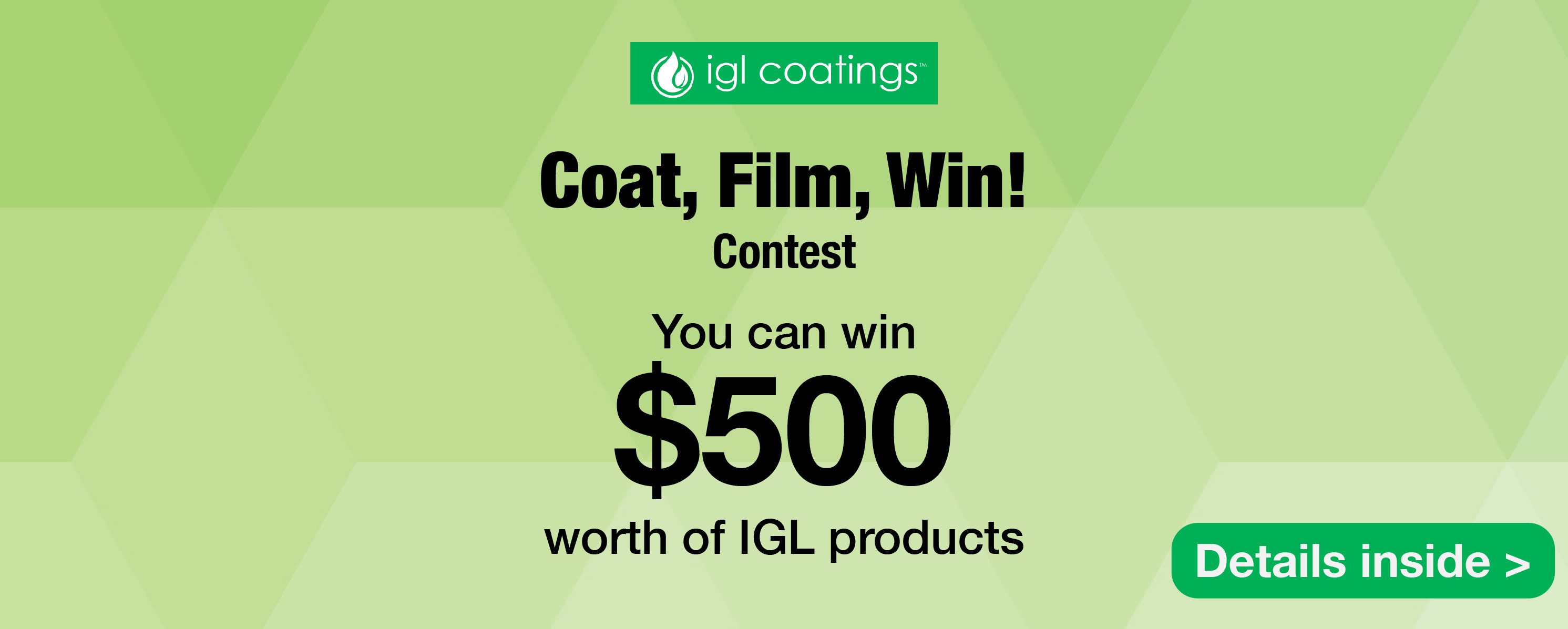 igl coatings coat film win contest